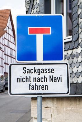 Warnung Navi