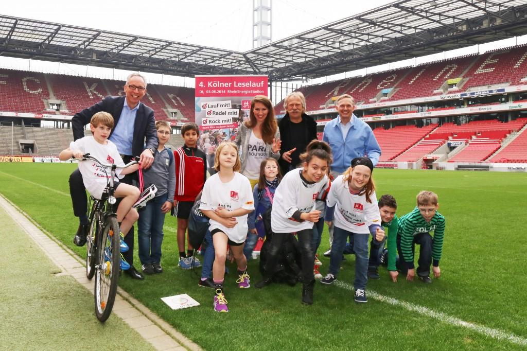 Sportlichkeit für Bildung – der vierte Kölner Leselauf startet am 3. Juni 2014 © Roland Goseberg