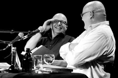 Oliver Rohrbeck (l.) und Detlef Bierstedt bei der Prima Vista Lesung ® der Lauscherlounge. © Lauscherlounge