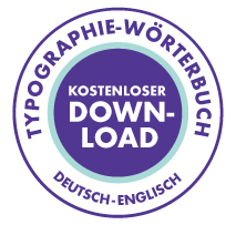 Typographie Wörterbuch Deutsch-Englisch von Wort für Wort